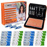 Suture Practice Kit for Suture Training Including Latest Reusable Silicone Skin Pad with Skid Base & Premium Suture…