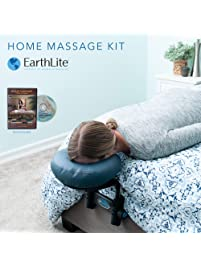 EARTHLITE Home Massage Kit - Deluxe Adjustable Headrest & Face Pillow / Home & Family Massage Made Easy with...