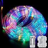 Ambaret LED Rope Light Twinkle Battery Operated String Lights 40Ft 120 LED Fairy Light, 8 Color Changing Waterproof Strip Lig