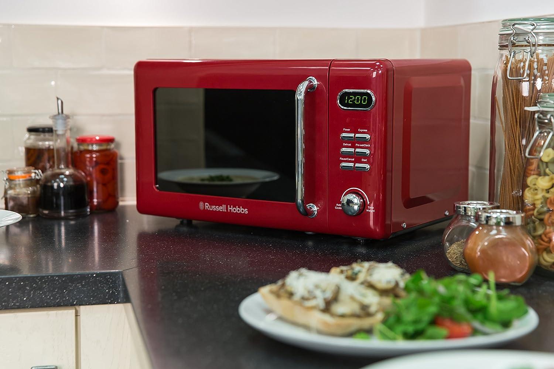Russell Hobbs rhretmd706r Retro Rojo Compacto Digital microondas ...