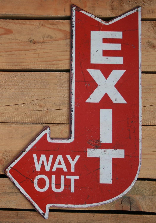 Moritz Cartel de Chapa Cartel Exit Way out Antiguo Estilo de ...