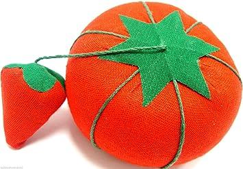 Hemline Tomato Needle /& Pin Cushion with Attached Sharpener