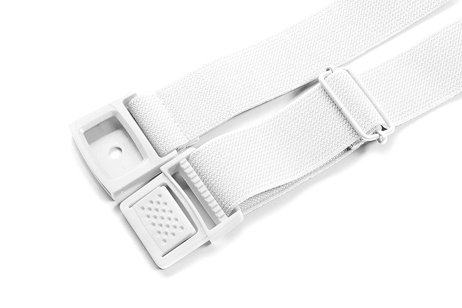 Silky Toes/ Adjustable Stretch Waist Belt With Flat Square Buckle