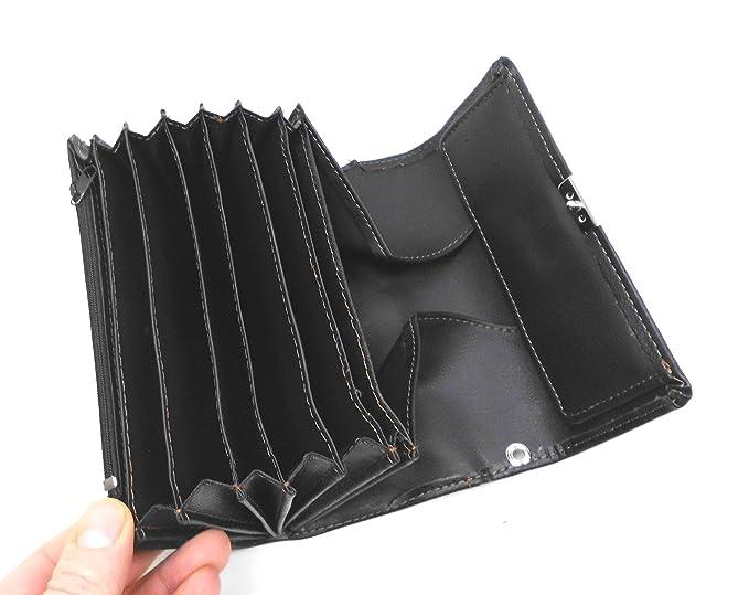 Monedero de Mesero Cartera De Taxi De Camarero Intercambio Camarero Pocket Negro De PU Piel con Funda / Cabestro