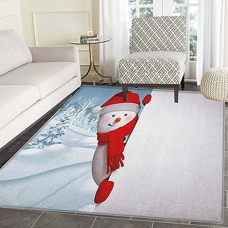 Amazon.com: Alfombra para niños, diseño de muñeco de nieve ...