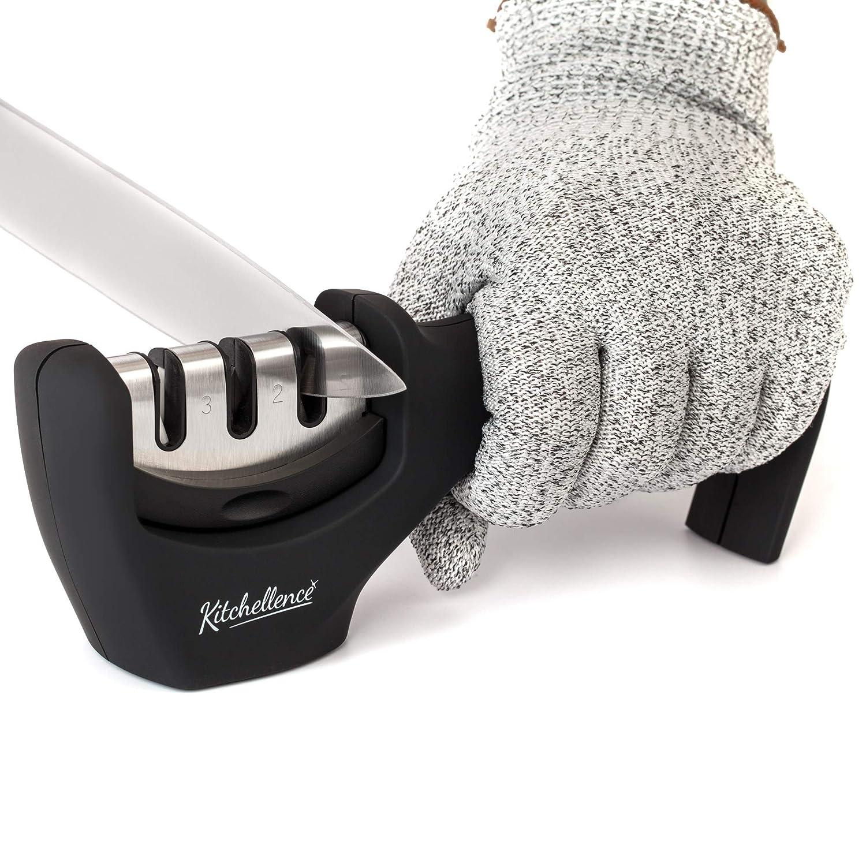 Afilador de cuchillos de cocina - 3 ranuras Kitchellence xsr