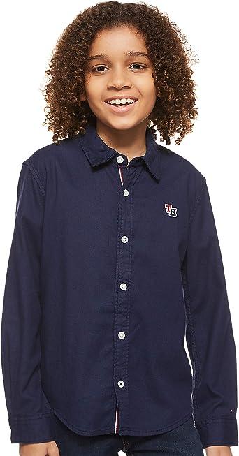 Tommy Hilfiger Soft Pique Shirt L/S Blusa para Niños: Amazon ...