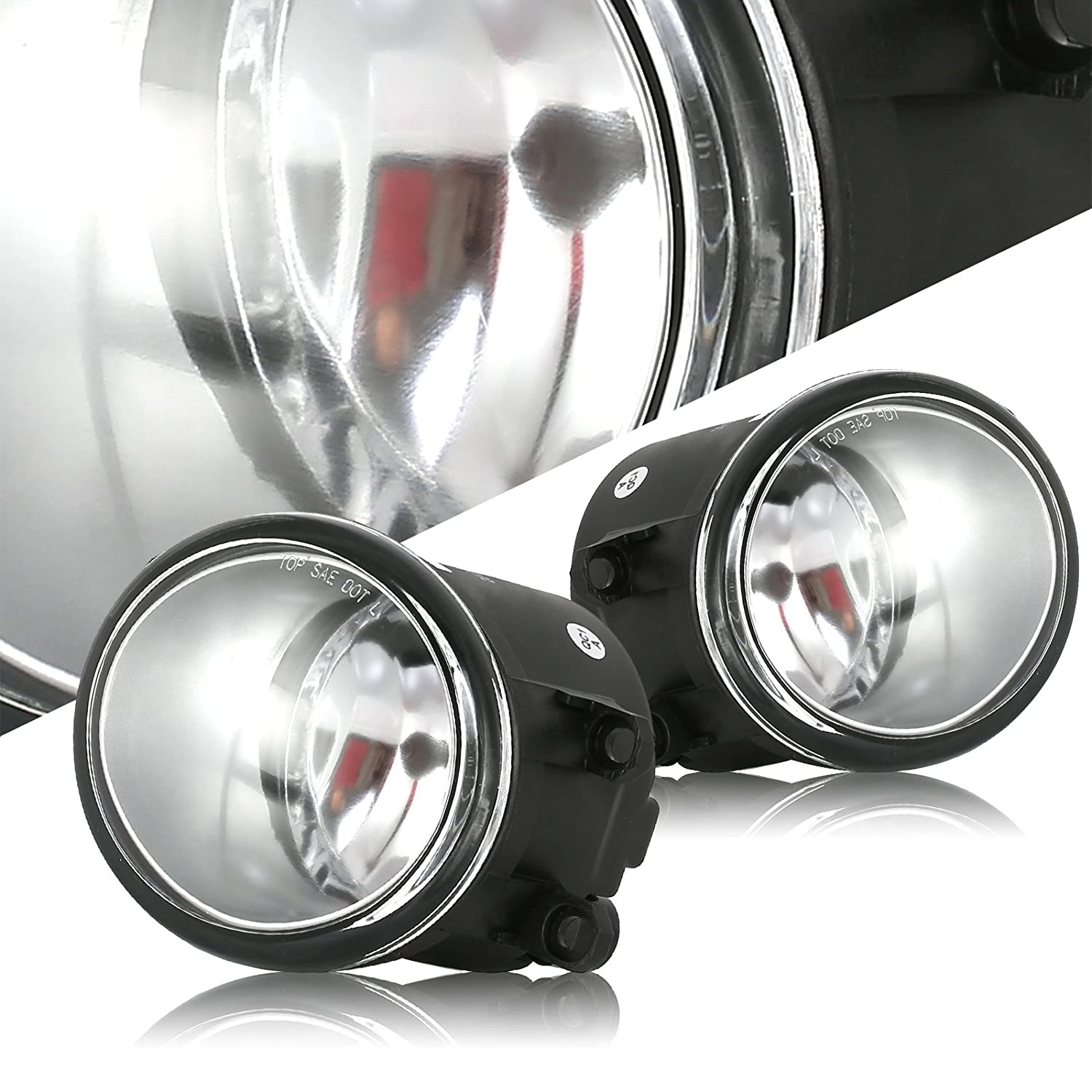 Scitoo Clear Lens OE//Replacement Fog Light fit for 2012-2015 Toyota Tacoma Pair Set