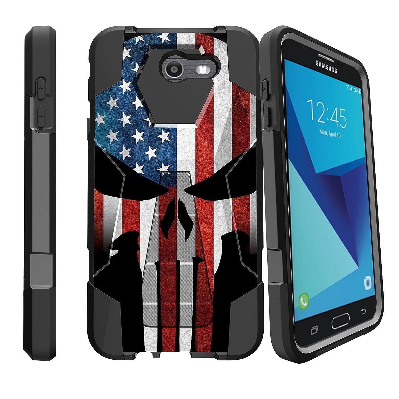 Amazon.com: MINITURTLE Case Compatible w/ Case for Galaxy Sky Pro   J7 (2017)   Samsung Galaxy J7V Case Flag Case  Samsung Perx Case [SHOCK FUSION] ...