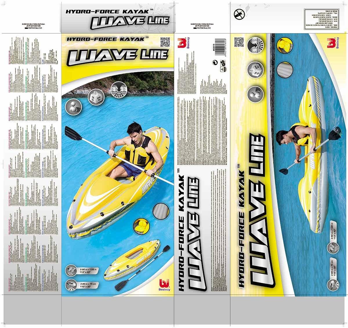 Bestway Hydro-Force - Kayak individual, 280 x 75 cm, incluye ...