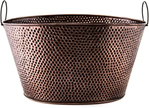 Old Dutch Oval 7.9-Gallon Party Tub, 18 by 15 by 93/4-Inch, Antique Copper