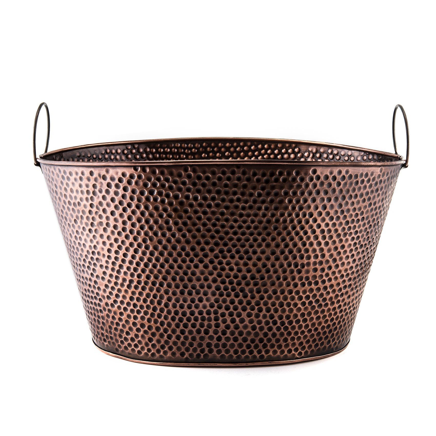 Old Dutch 636 Oval 7.9-Gallon Party Tub, 18 by 15 by 93/4-Inch, Antique Copper