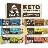Munk Pack Keto Granola Bar, 1g Sugar, 2g Net Carbs, Keto Snacks, Chewy & Grain Free, Plant Based, Gluten Free, Soy Free, No S