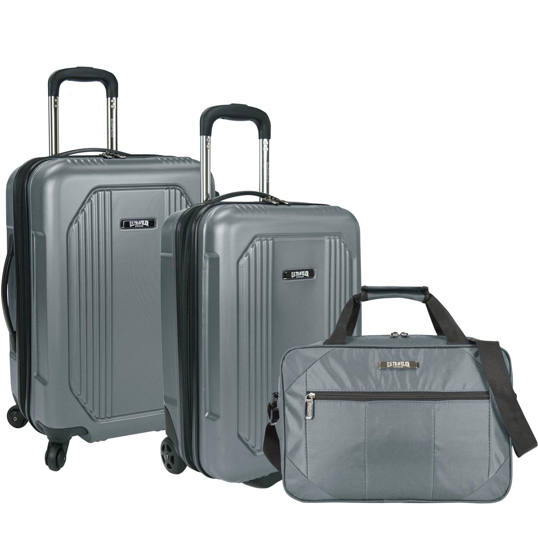Grey Travelers Choice US09041G3 U.S Traveler Bloomington Carry-on 3-Piece Luggage Set