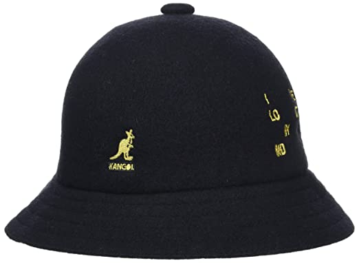 a2182d83 Kangol Men's Word Casual Bucket Hat, Black (Black/Gold), Large ...