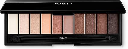 Paleta de sombra de ojos KIKO MILANO, paleta de sombra de ojos, 10 tonos de varios acabados Aplicador de doble punta incluido.: Amazon.es: Belleza