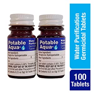 Potable Aqua Germicidal Water Purification Tablets