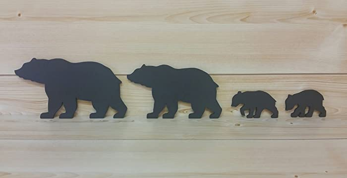 Amazon.com: Bear Wall Art - Cut-Out Bear Wall Art - Bear Woodwork ...