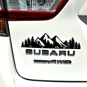 """Byzee Vinyl Mountain Decal, Car Emblem Graphic, Tree Sticker for Trunk Rear (9"""" inch)"""