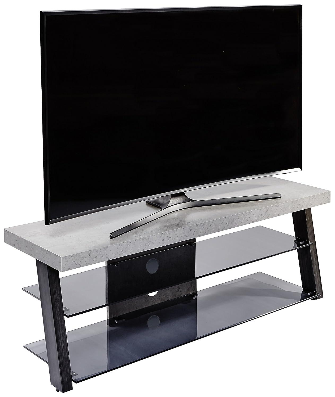 Jahnke TV Rack, Rack, Rack, Holzdekor, Grau, 40 x 130 x 43 cm aa5c01