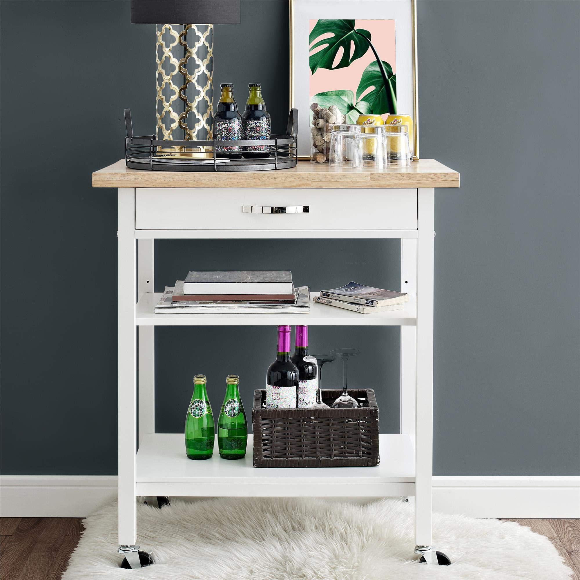 Dorel Living DL7618-DC Hogan Multifunction, White Kitchen Carts,