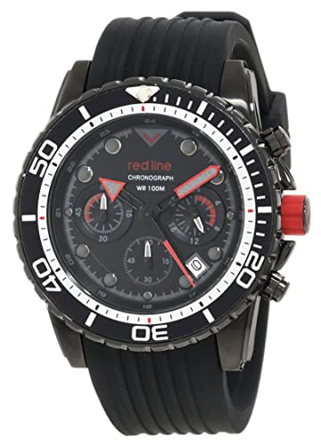 red line Caballero RL-50034-BB-01 Piston Cronografo Black Dial Reloj: Amazon.es: Relojes