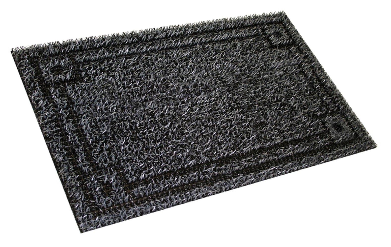 Grassworx Clean Machine Metro Doormat, 18'' x 30'', Flint (10374077)