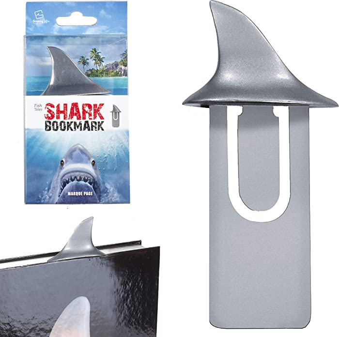 Fish Tales Novelty Fun Bookmark Book Mark Reading Page Holder Book Lover Gift - Shark