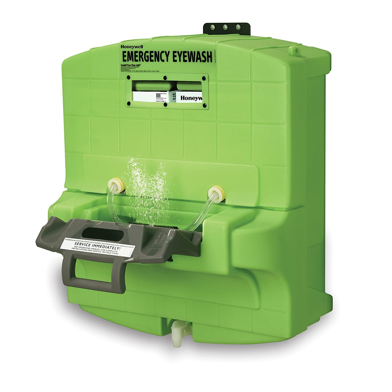 "Honeywell Fendall Pure Flow 1000 Eyewash Station, 7 Gallon Capacity, 15 minutes Wash Time, 29"" L X 30"" H X 17-1/4"" D"