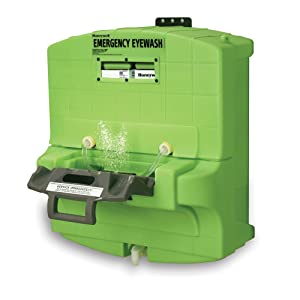 "Honeywell Fendall Pure Flow 1000 Eyewash Station, 7 Gallon Capacity, 15 minutes Wash Time, 29"" L X 30"" H X 17-1/4"" D"