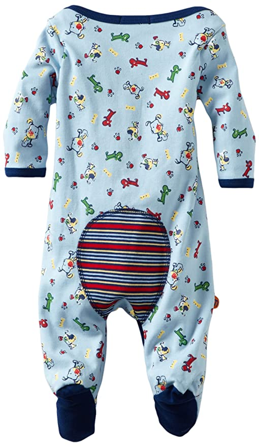 Amazon.com: MINI BAMBA APPAREL Baby-boys Newborn Dog Footie With Hat Set, Light Blue, 3 Months: Infant And Toddler Bodysuit Footies: Clothing