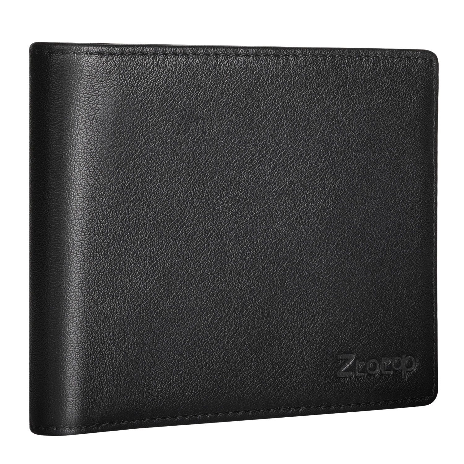 Ztotop Mens Wallet Leather, Slim Bifold RFID Blocking Wallet with 2 ID Window