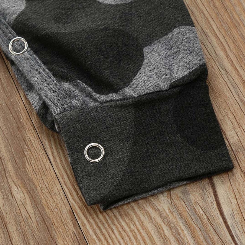 UOMOGO/® Bambino Pagliaccetti con Cappuccio Bimba Tutina Hooded Body Manica Lunga Cotone Outfits 0-24 Mesi