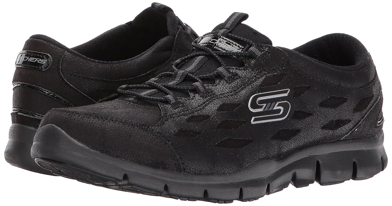 Skechers Women's Gratis Simply Serene Wide Fashion Sneaker B06W5Q5XJN 8.5 W US|Black