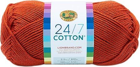 Lion Brand Yarn Company algodón de Lana, 100% algodón, Color Naranja: Amazon.es: Hogar