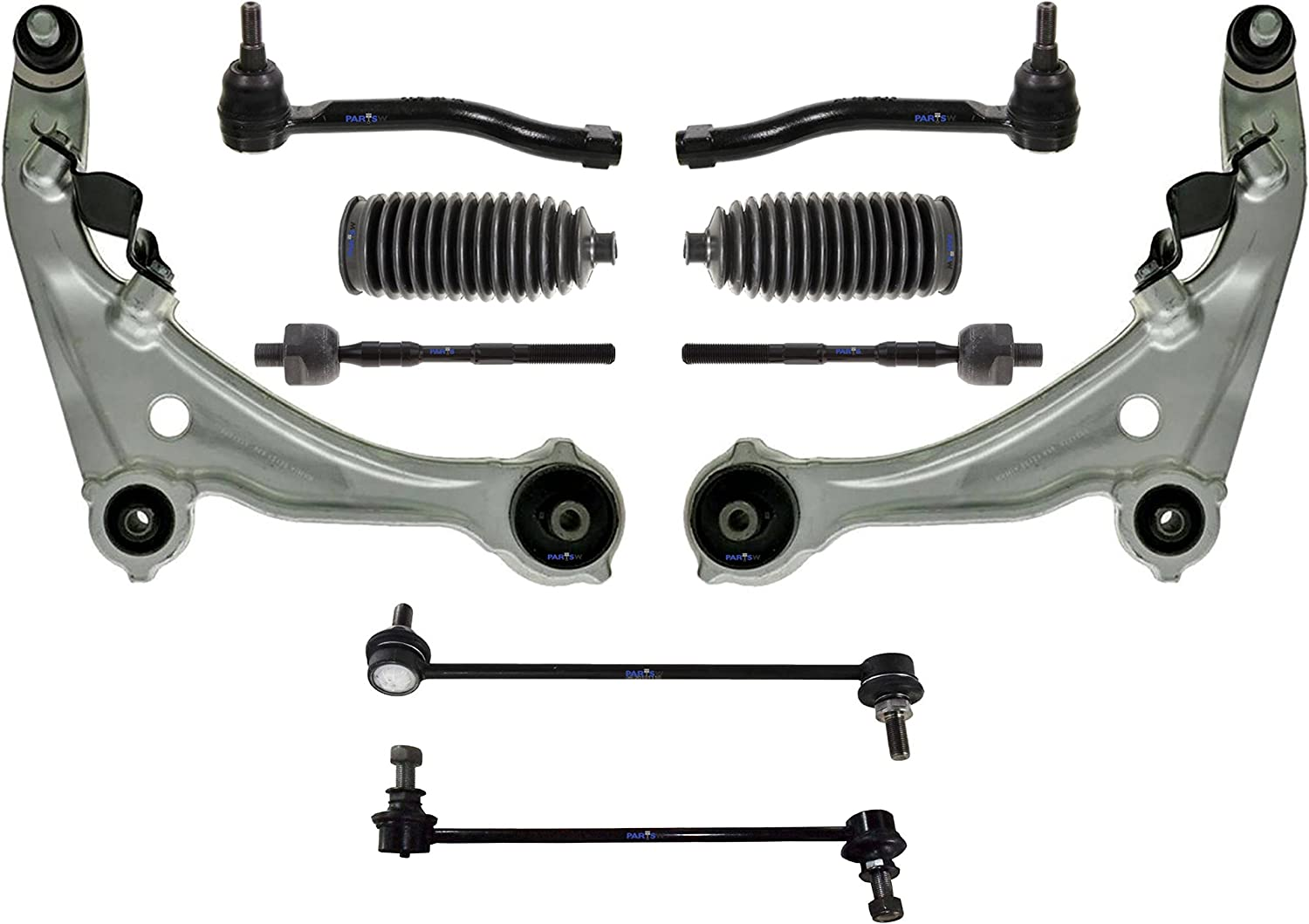 8 New Pc Suspension Kit for Nissan Altima Tie Rod End Bellow Boots Sway Bar End
