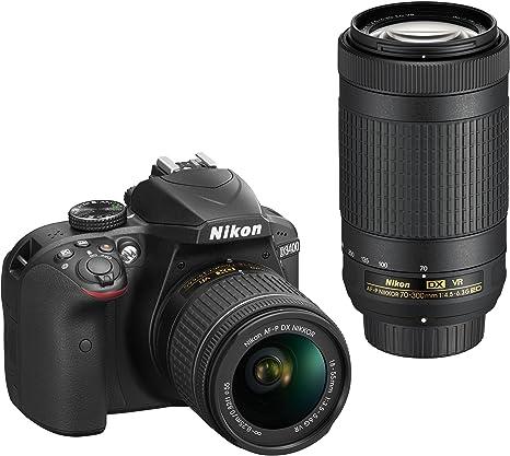 Nikon D3400 + AF-P 18-55mm VR+AF-P 70-300mm VR + 8GB SD Juego de ...