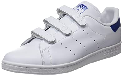 Adidas Stan Smith CF, Chaussures de Fitness garçon, Blanc Footwear White/Collegiate Royal