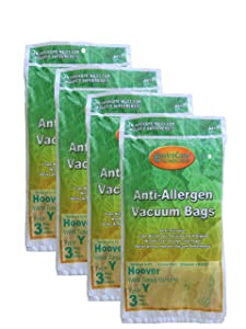 EnviroCare Replacement Anti-Allergen Vacuum Bags for Hoover Type Y Uprights 12 Pack