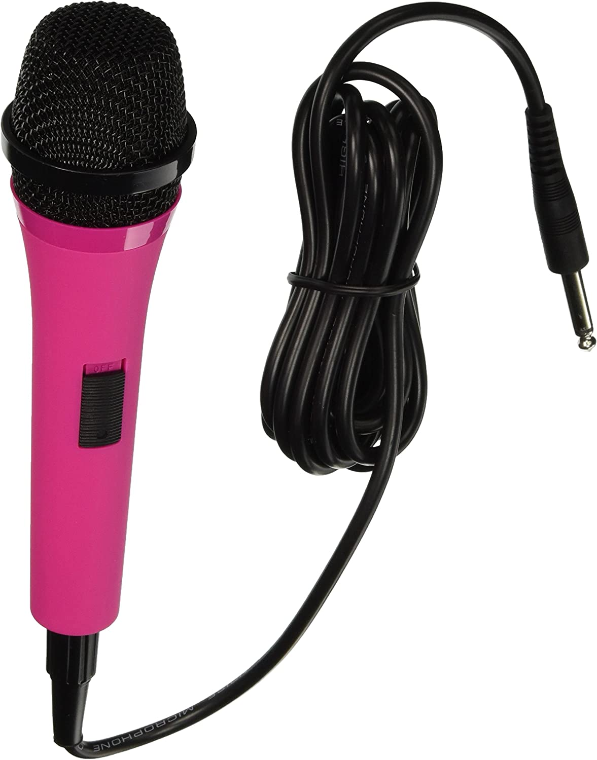 Singing Machine SMM205P Uni-Directional Dynamic Microphone with 10-Foot Cord - Pink