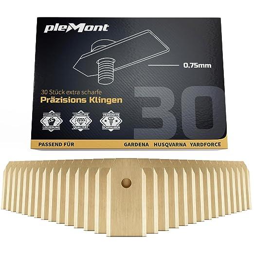 Plemont® Cuchillas Husqvarna Automower en Titanio [Set de 30 ...