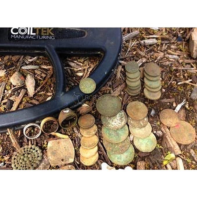 coiltek 14 x 9 cm DD bobina de búsqueda para minelab CTX 3030 - Detector de metales: Amazon.es: Jardín