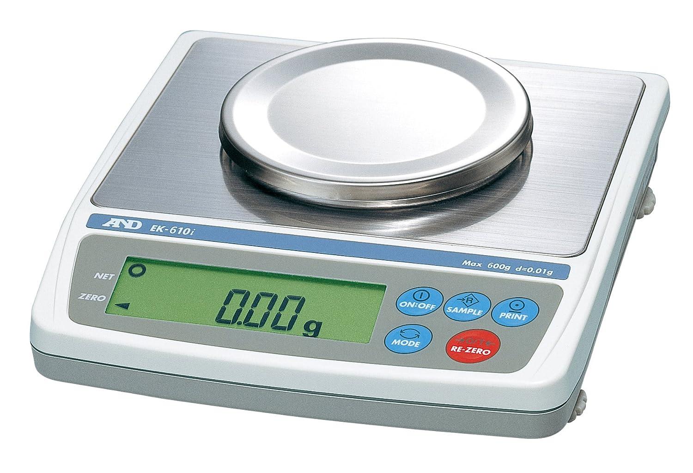 A&D パーソナル天びん EK-610i ひょう量:600g 最小表示:0.01g 皿寸法:φ110mm JCSS校正付 B073VGLL98 本体 + JCSS校正付