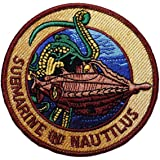 "20,000 Leagues Under the Sea SUBMARINE NAUTILUS 3 1/2"" Wide Embroidered PATCH"