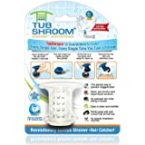 TubShroom The Revolutionary Shower Tub Drain Protector Hair Catcher/Strainer/Snare, White