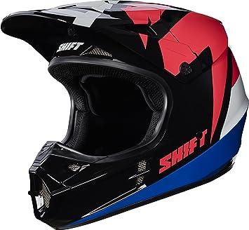 Shift Racing whit3 etiqueta asfalto hombres de la motocicleta Cascos – Negro