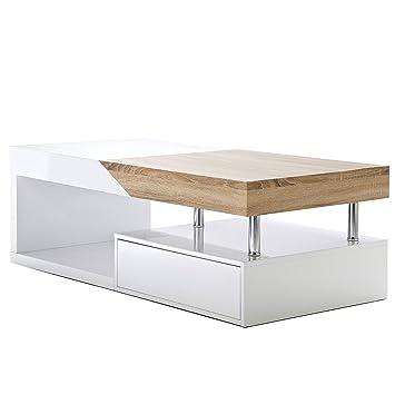 Avec Mca Rallonges L'espace FinBlancÀ Table Salon ~ HopePoli Basse Chêne De F1culK5TJ3