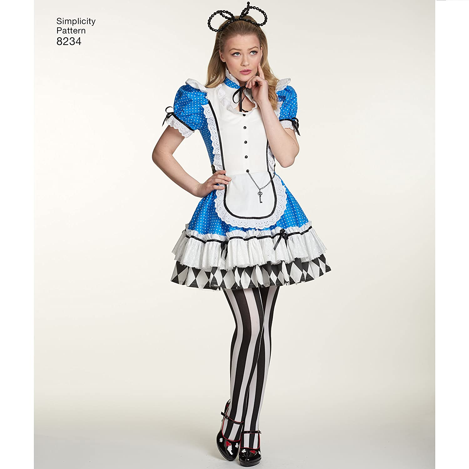Simplicity Muster 8234 Schnittmuster Alice im Wunderland Cosplay ...