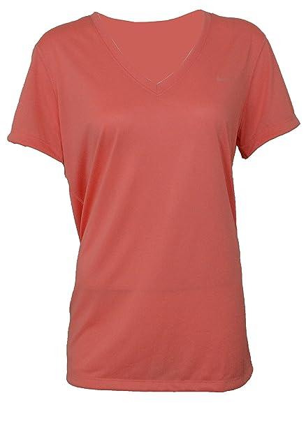 9de853a5 Amazon.com: Nike Dri Fit 2.0 Legend Short Sleeve V-Neck Womens T ...