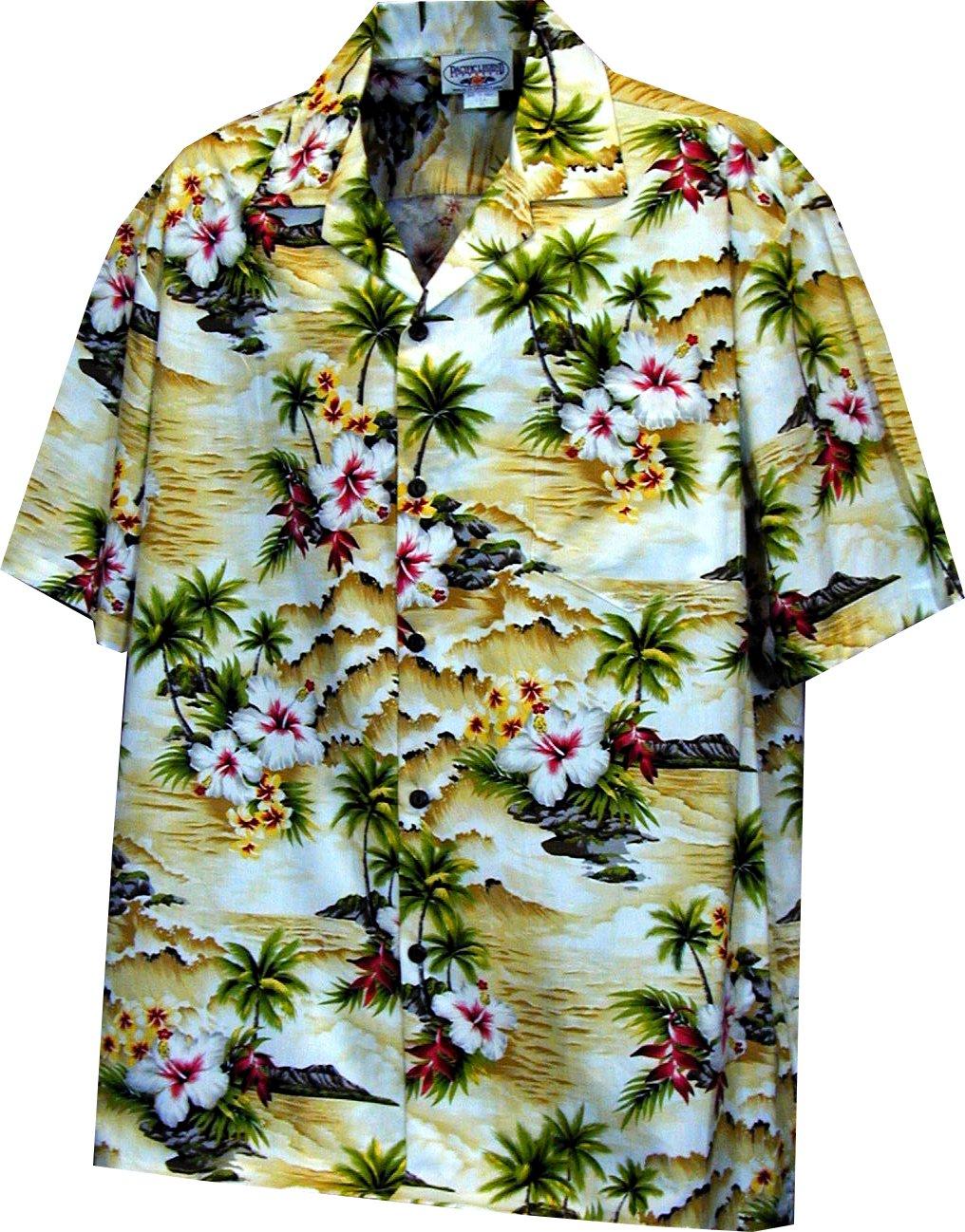 Pacific Legend Boys Diamond Head Ocean Wave Shirt MAIZE XL by Pacific Legend (Image #1)